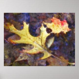 Hojas de otoño coloridas en The Creek Impresiones
