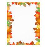 Hojas de otoño coloridas - papel de letra membrete a diseño