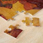 Hojas de otoño coloridas puzzles con fotos