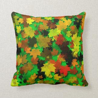 Hojas de otoño con las almohadas de MoJo del ameri