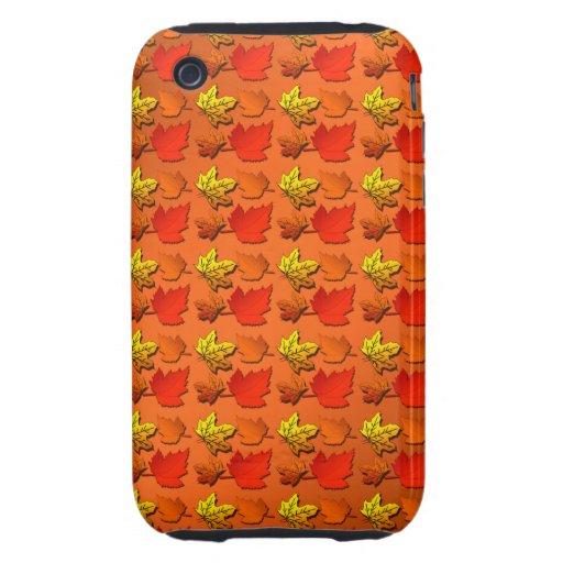 Hojas de otoño de la caída iPhone 3 tough carcasa