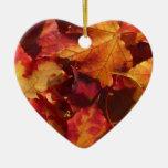 Hojas de otoño de la caída ornamentos de reyes