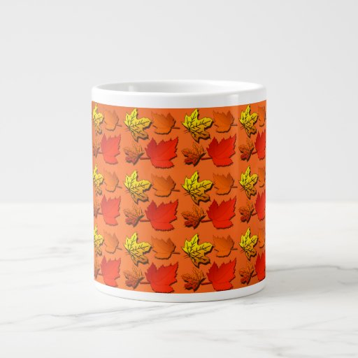 Hojas de otoño de la caída taza grande