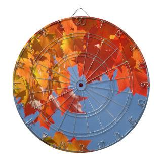 Hojas de otoño decorativas de encargo del tablero  tablero de dardos