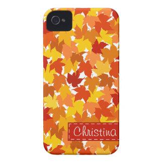 Hojas de otoño del árbol de arce carcasa para iPhone 4 de Case-Mate