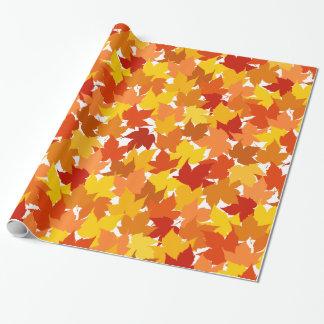 Hojas de otoño del árbol de arce papel de regalo