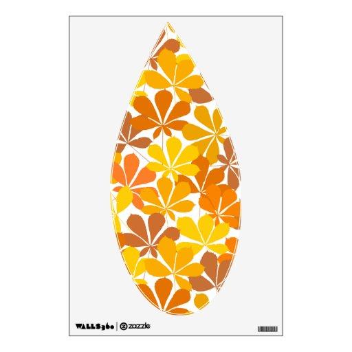 Hojas de otoño del árbol de castaña