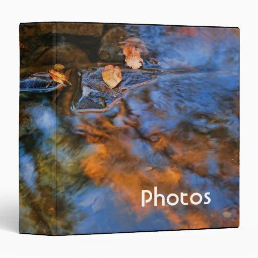 """Hojas de otoño en el agua 1,5"""" álbum de foto"""
