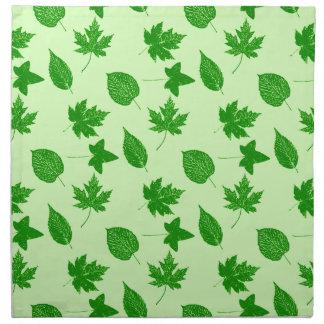 Hojas de otoño - esmeralda y verde lima