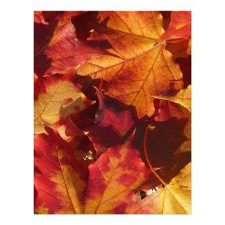 Hojas de otoño estacionales membrete a diseño