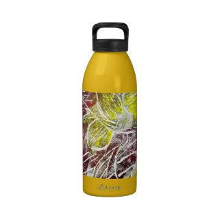 Hojas de otoño Extracto en rojo y amarillo Botellas De Agua Reutilizables