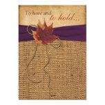 Hojas de otoño, FALSA invitación del boda de la Invitación 12,7 X 17,8 Cm