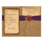 Hojas de otoño, FALSO programa del boda de la arpi Flyer A Todo Color
