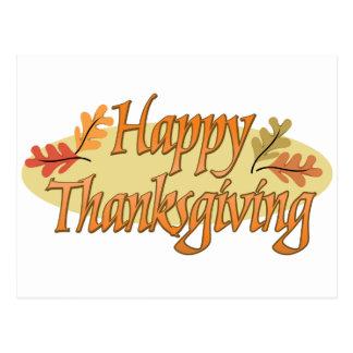 Hojas de otoño felices de la acción de gracias postales