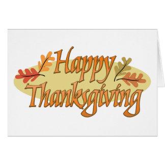 Hojas de otoño felices de la acción de gracias tarjeta de felicitación