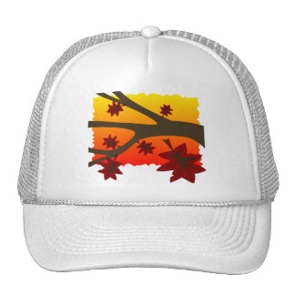 Hojas de otoño gorro de camionero