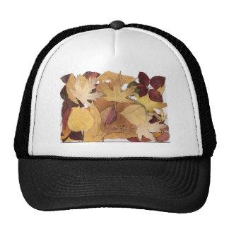 Hojas de otoño gorras de camionero