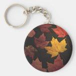 Hojas de otoño llavero