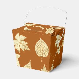 Hojas de otoño - marrón y crema del moho paquete de regalo para bodas