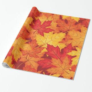 Hojas de otoño papel de regalo