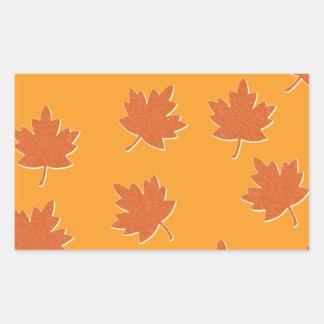 Hojas de otoño pegatina rectangular