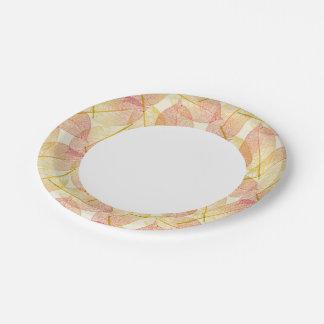 Hojas de otoño platos de papel
