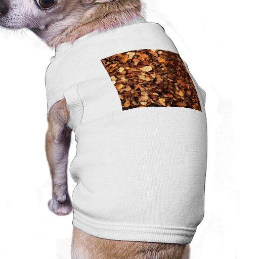 Hojas de otoño playera sin mangas para perro