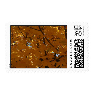hojas de otoño postage