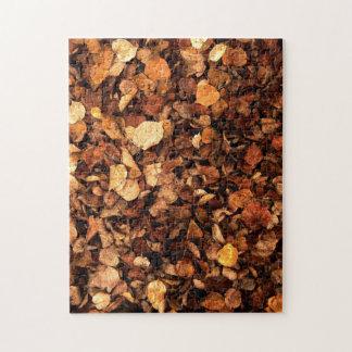 Hojas de otoño rompecabezas con fotos