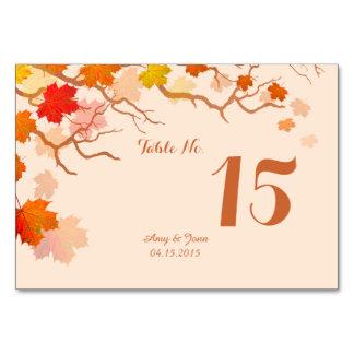 Hojas de otoño que casan la tarjeta autm2 de la