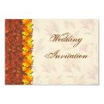 Hojas de otoño que casan la tarjeta de la invitación 8,9 x 12,7 cm