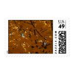 hojas de otoño sello postal