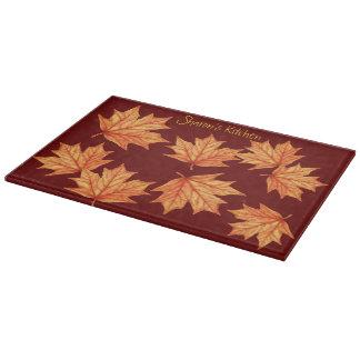 Hojas de otoño - tabla de cortar