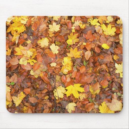 Hojas de otoño tapete de raton