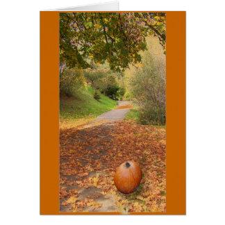 Hojas de otoño tarjetón