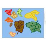 Hojas de otoño tarjeta pequeña