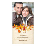 Hojas de otoño tarjeta personal con foto