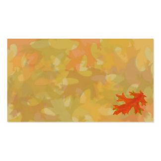 Hojas de otoño, tarjetas de visita