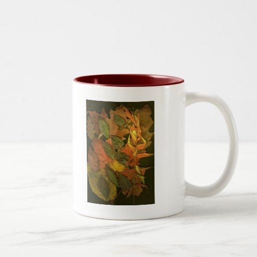 Hojas de otoño taza de café
