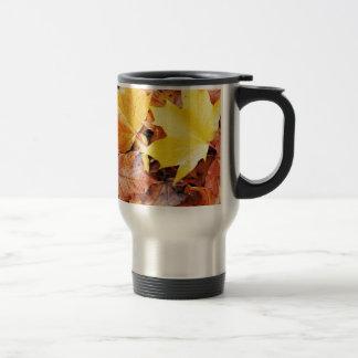 Hojas de otoño tazas