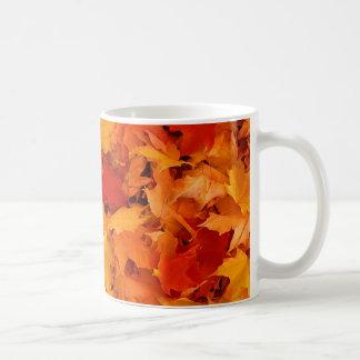 Hojas de otoño tazas de café