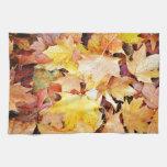 Hojas de otoño toalla de mano