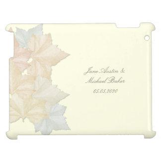 Hojas de otoño, un caso floral del iPad del boda d