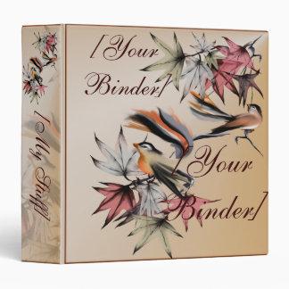 """Hojas de otoño y dos pájaros binder_1.5_front.v4. carpeta 1 1/2"""""""