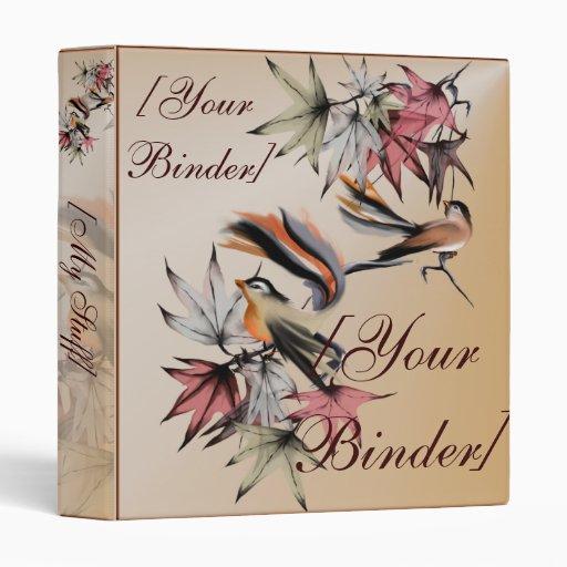 """Hojas de otoño y dos pájaros binder_1_front.v4. carpeta 1"""""""