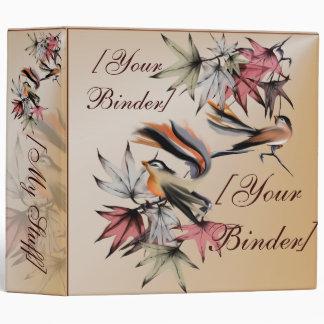 """Hojas de otoño y dos pájaros binder_2_front.v4. carpeta 2"""""""
