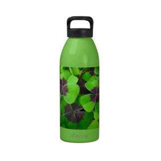 Hojas de Oxalis - rojo y verde Botella De Agua Reutilizable
