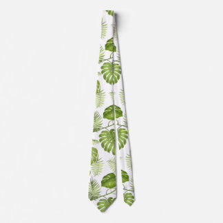 Hojas de palma tropicales corbata personalizada