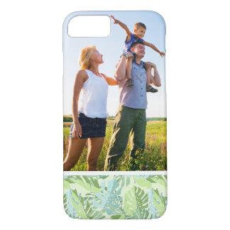 Hojas de palma tropicales en colores pastel de la funda iPhone 7