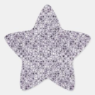Hojas de plata del pegatina de la estrella del